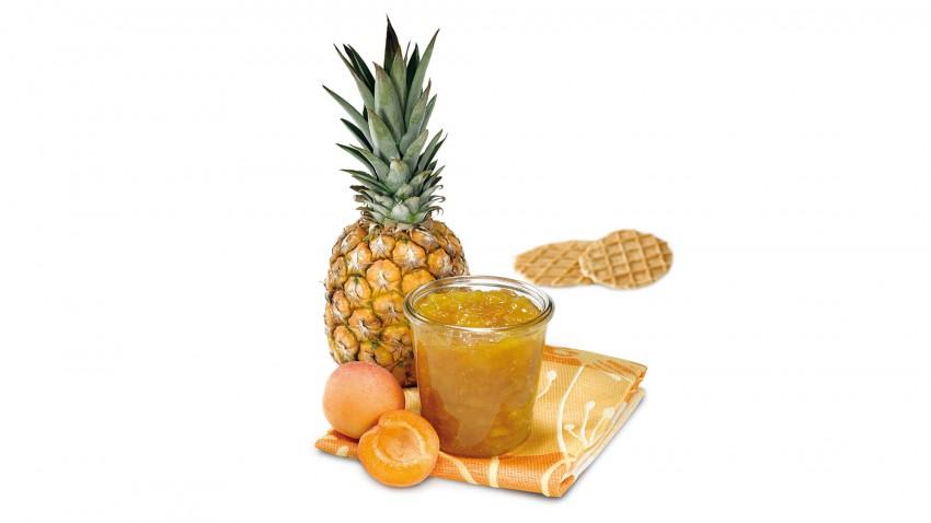 Ananas-Aprikosen-Konfitüre