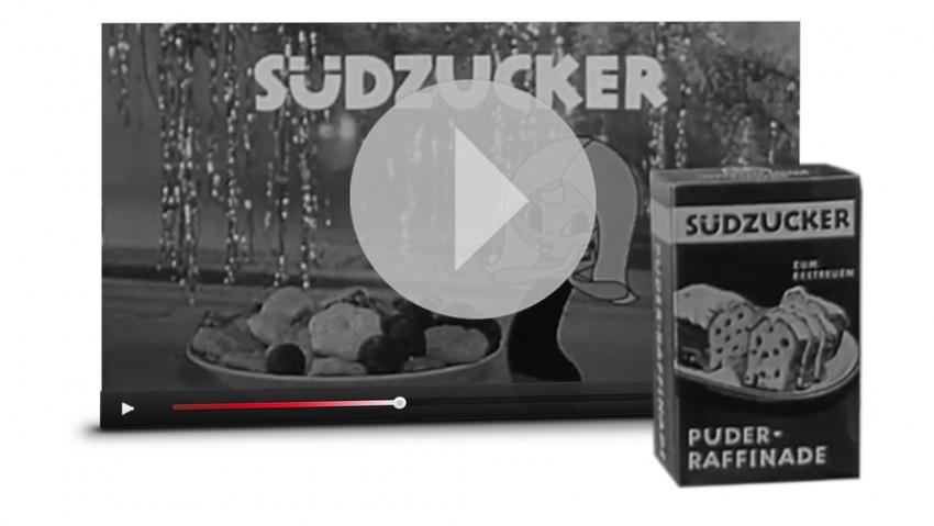 Werbespot Weihnachtszeit mit Susi Südzucker aus den 60er Jahren