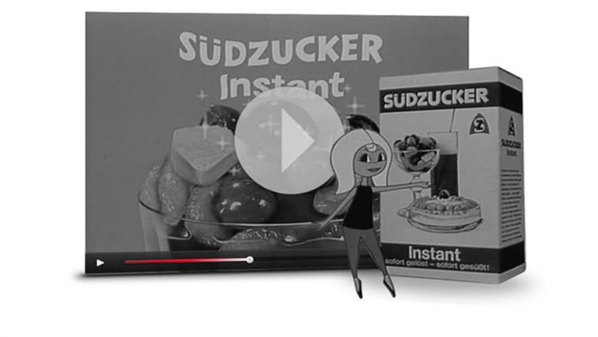 Werbespot Instant Zucker mit Susi Südzucker aus den 60er Jahren