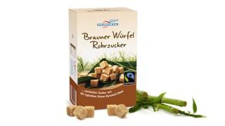 Brauner Würfel Rohrzucker
