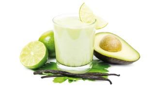 Avocado-Birnen-Smoothie mit karamellisierten Feigen