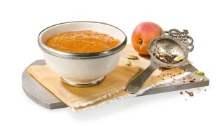 Aprikosenkonfitüre mit Chai-Tee mit Gelier Zucker 1plus1