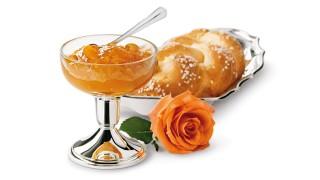 Aprikosenkonfitüre mit Rosenwasser mit Gelier Zucker 1plus1