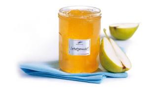 Birnen-Apfel-Konfitüre mit grünem Tee mit Gelier Zucker 1plus1