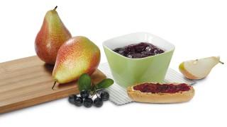 Birnen-Aroniabeeren-Brotaufstrich mit Gelier Zucker 3plus1