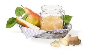Birnenbrotaufstrich mit Ingwer mit Gelier Zucker 2plus1