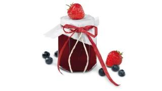 Erdbeer-Heidelbeer-Brotaufstrich mit Gelier Zucker 2plus1