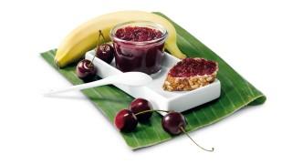 Kirsch-Bananen-Brotaufstrich mit Gelier Zucker 2plus1