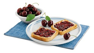 Kirschkonfitüre mit Anis mit Gelier Zucker 1plus1