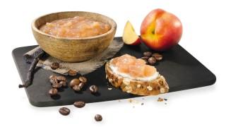 Nektarinenbrotaufstrich mit Kaffee und Vanille mit Gelier Zucker 3plus1