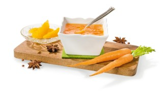 Orangen-Karotten-Konfitüre mit Sternanis mit Gelier Zucker 1plus1