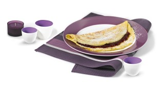 Schichtkäse-Omelett mit Erdbeer-Ragout