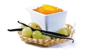 Stachelbeerbrotaufstrich mit Vanille  mit Gelier Zucker 2plus1
