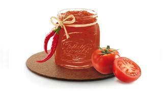 Tomate mit Chili mit Gelier Zucker 1plus1