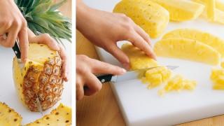 Wie schneide ich eine Ananas auf?