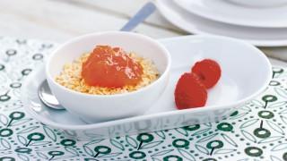 Gelbe Pflaume & Himbeere mit Stückchen mit Gelier Zucker 2plus1