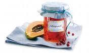 Papaya-Preiselbeer-Konfitüre mit Gelier Zucker 1plus1