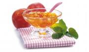 Pfirsichkonfitüre mit Minze mit Gelier Zucker 1plus1