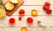 Erdbeere & Ananas mit Stückchen mit Gelier Zucker 2plus1